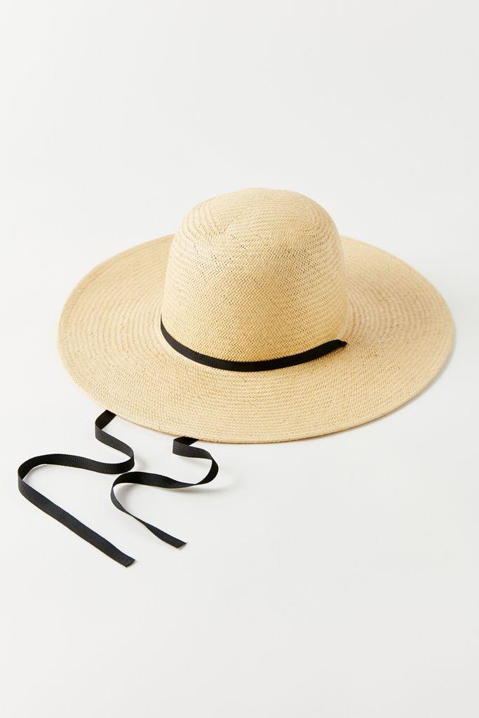 Tan and Black Straw Hat