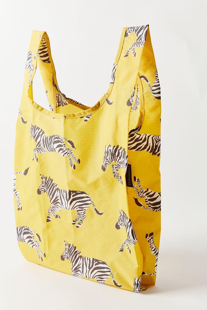 Yellow Zebra Print Baggu Bag