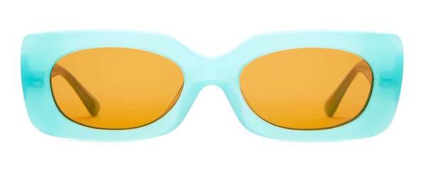 bright blue sunglasses