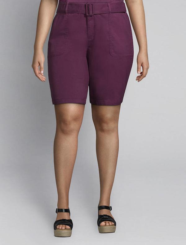 purple bermuda shorts