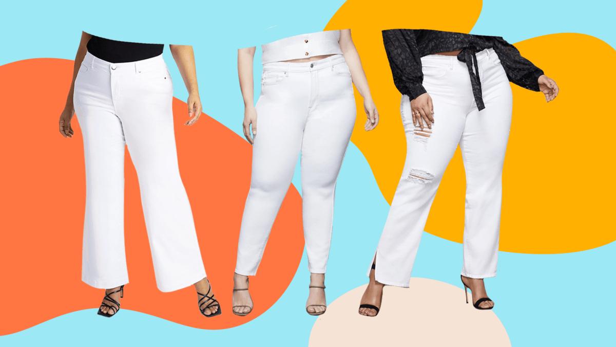 Plus-Size White Jeans
