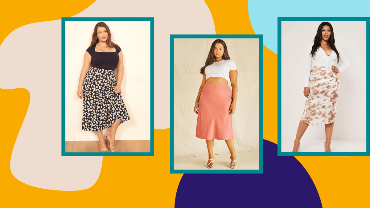 Plus-Size Midi Skirts