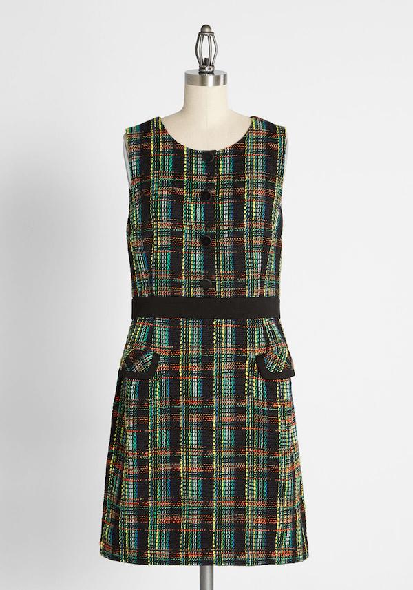 A green plaid mini dress from ModCloth.