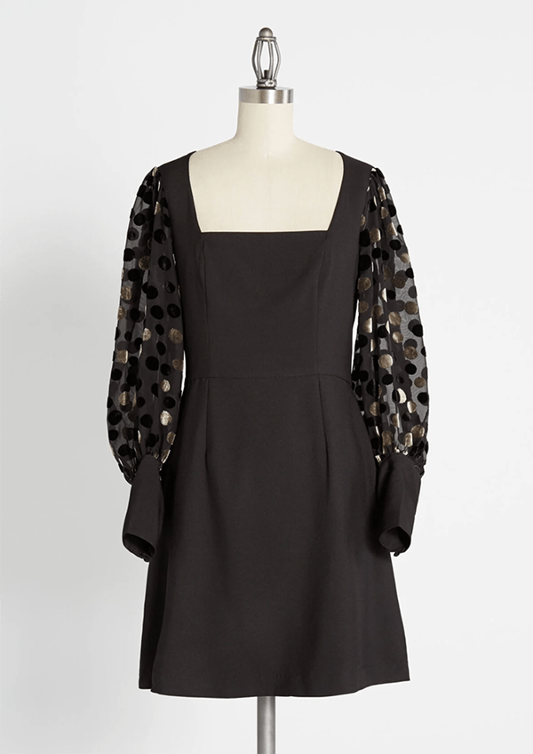 A plus-size black holiday dress from ModCloth.