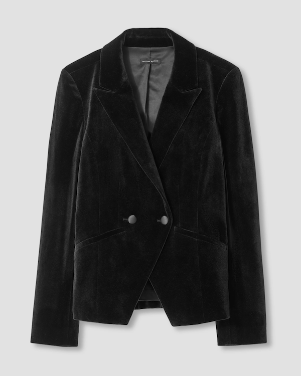 A black velvet blazer.