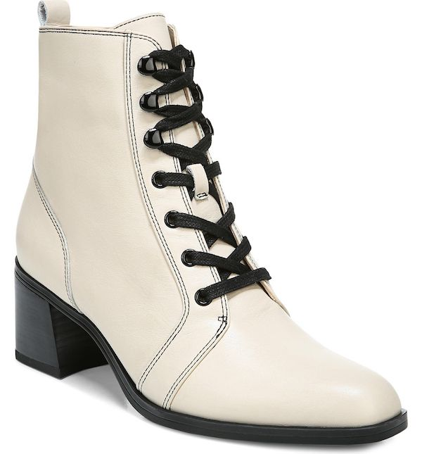 Wide-fit ankle boots in white.