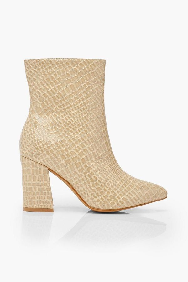 Wide-fit sock boots in tan.
