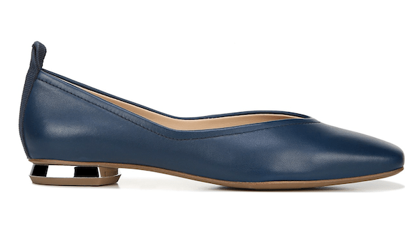 Wide-fit flats in navy.