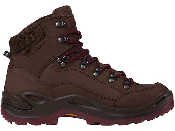 Wide-fit hiking boot in dark brown.