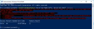 Installation Microsoft Exhange 2016 on Windows Server 2016 - PowerShell Fault