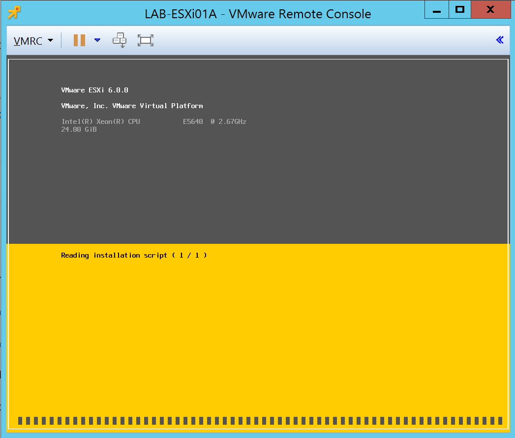 Automated installation with VMware ESXi 5 5/6 0/6 5