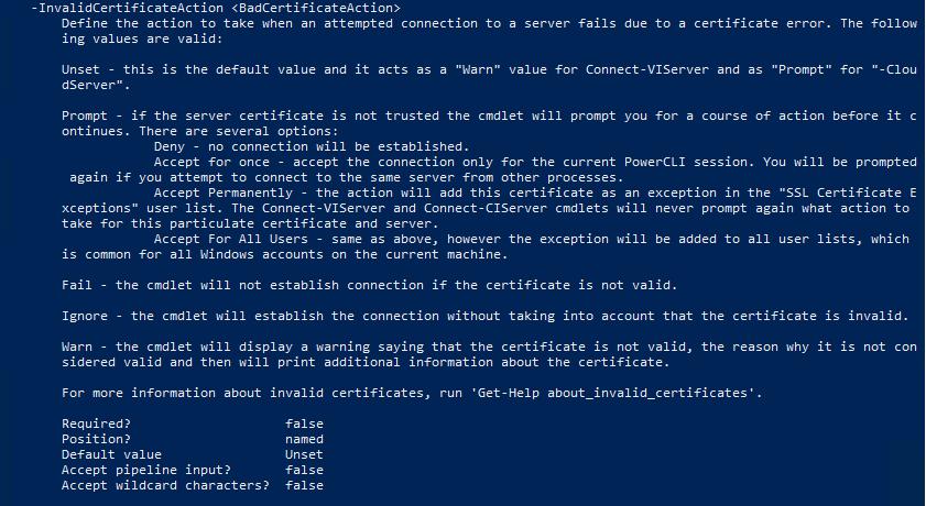 PowerCLI 10.0.0 - 03 - List options