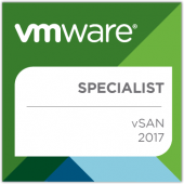 VMware vSAN 2017 Specialist - Badge
