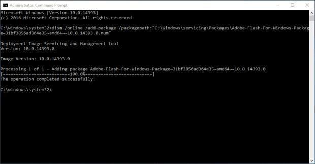 Installing Adobe Flash on Windows Server 2016