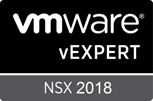 VMware vExpert NSX 2018 - Badge