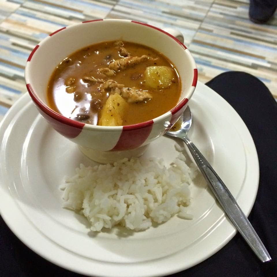 Photo of the Massaman curry I created whilst following the recipe on this blog