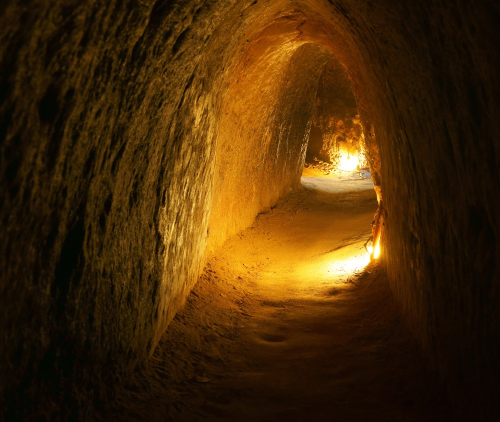 Vinh Moc tunnel - small passage burrowed deep underground