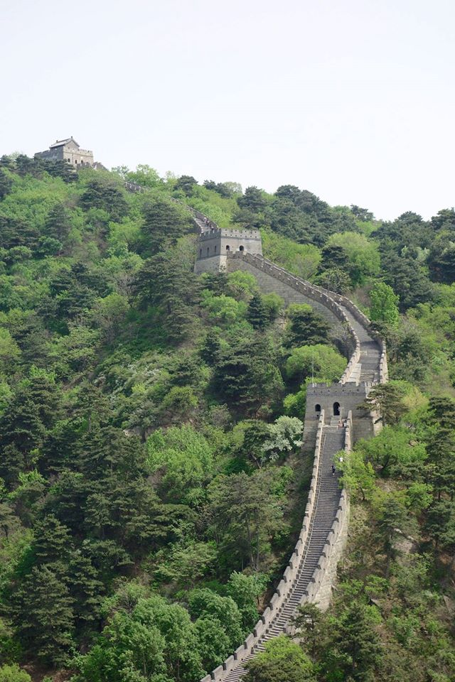 The impressive Great Wall, and it's very steep slopes!