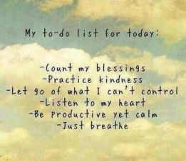 My to do list
