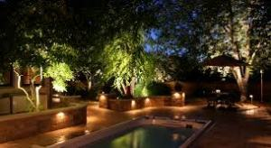 outdoor lighting for pool area