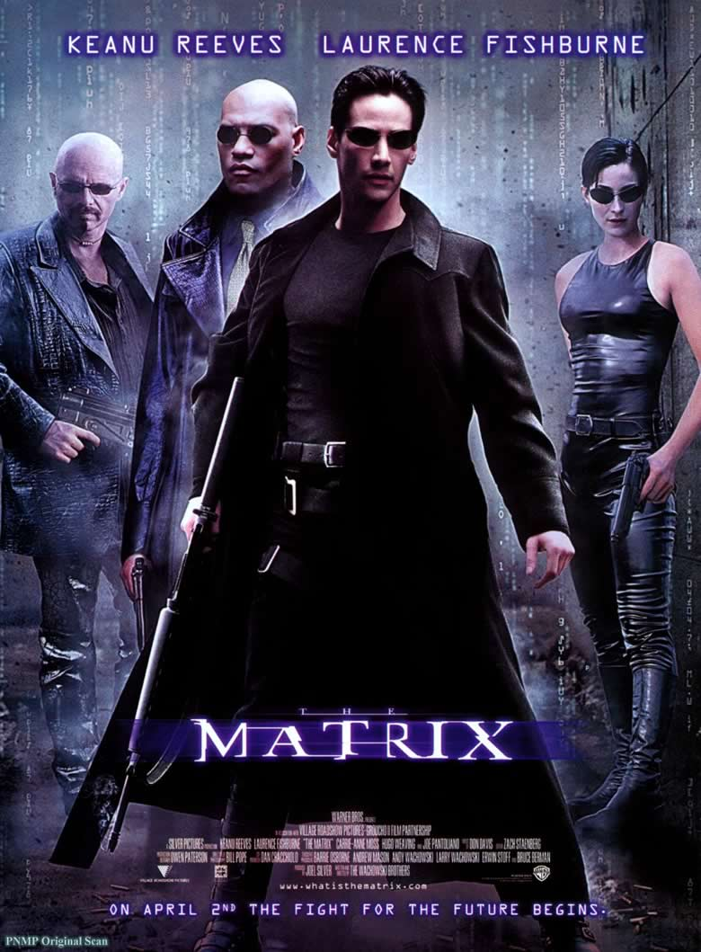 "film poster for ""The Matrix"""