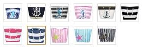 beach bag color options