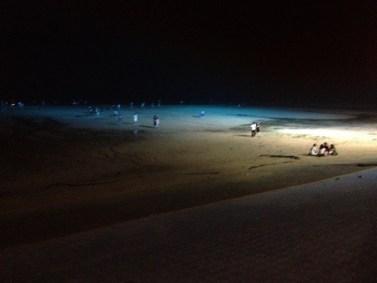 night time at beach