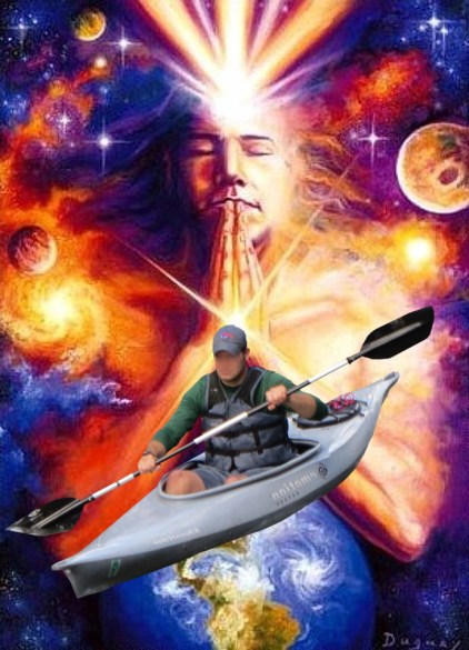 become one with the kayak