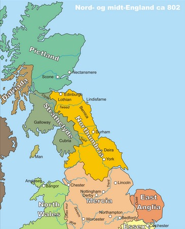northumbria on a map