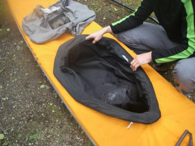 sea sock in kayak