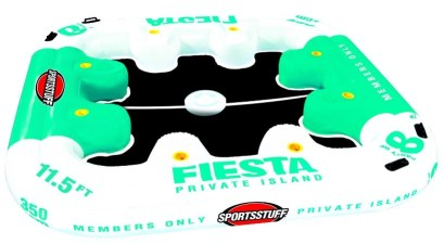 fiesta private floating island raft review