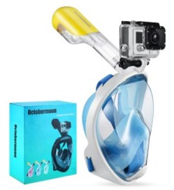 Octobermoon Snorkel Surface Scuba Mask with Gopro Dry Full Face Diving Mask for Action Camera review