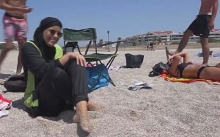 banned burkini in french beach