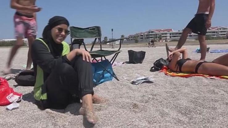 banned burkini in french beach