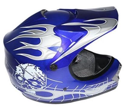 tcmt-dot-youth-kids-motocross-offroad-street-helmet-blue-skull-motorcycle-helmet-silver-dirt-bike-helmetgogglesgloves-review
