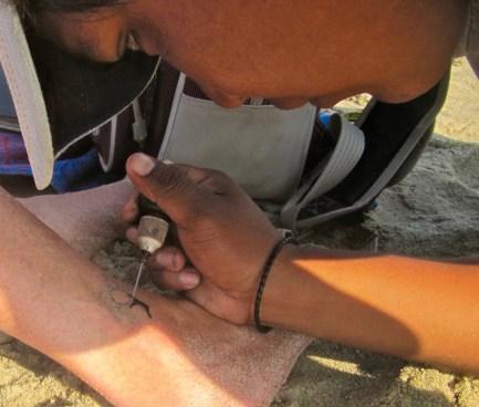 tattooing on Bucerias beach