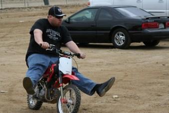 fat guy on bike