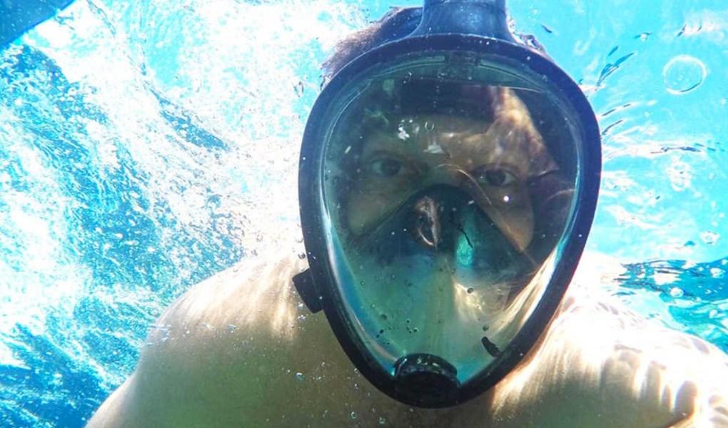 octobermoon full face snorkel mask