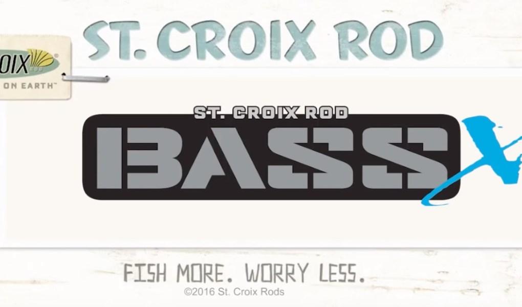 St. Croix Bass X rod logo