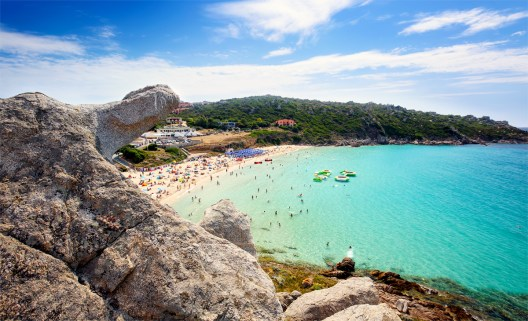 Rena Bianca, the Beach of Santa Teresa, North Sardinia, Italy