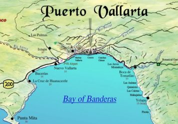 Banderas Bay Mexico mapBanderas Bay Mexico map