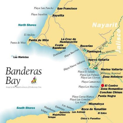 Banderas Bay map
