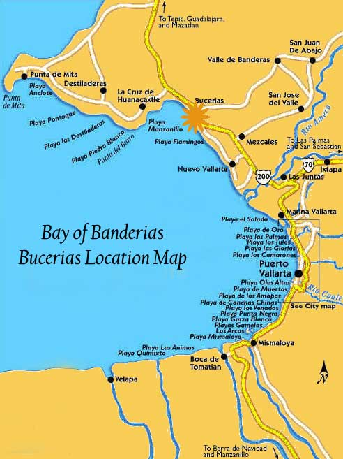Bucerias Mexico Map
