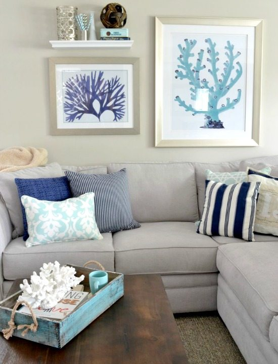 Paint Design For Living Room Walls: Paint Color Schemes Inspired From Beach Colors