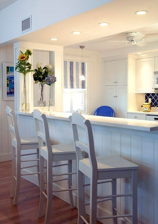 Serene Sanibel Cottage Style Home In Blue Amp Yellow With Some Pink And Florals In The Mix Beach