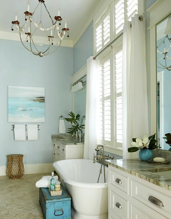 fabulous beach inspired bathroom ideas | Elegant Home that Abounds with Beach House Decor Ideas ...