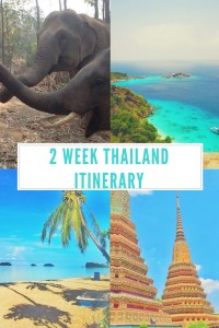 2 weeks in thailand