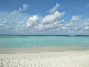 local island Gulhi beautiful beach