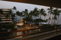 View from our room at the Royal Kona Hotel