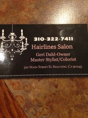 Two members hail from Hairlines Salon in El Segundo, CA - Geril Dahl (owner) and Lori McConnaha who is our Mary Kay representative